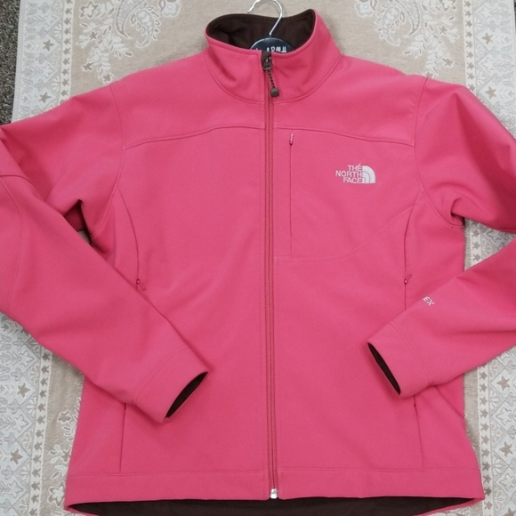 The North Face Jackets & Blazers - The North face salmon light fleece lined jacket M
